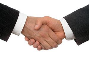 Edyta Pawlowska : business handshake